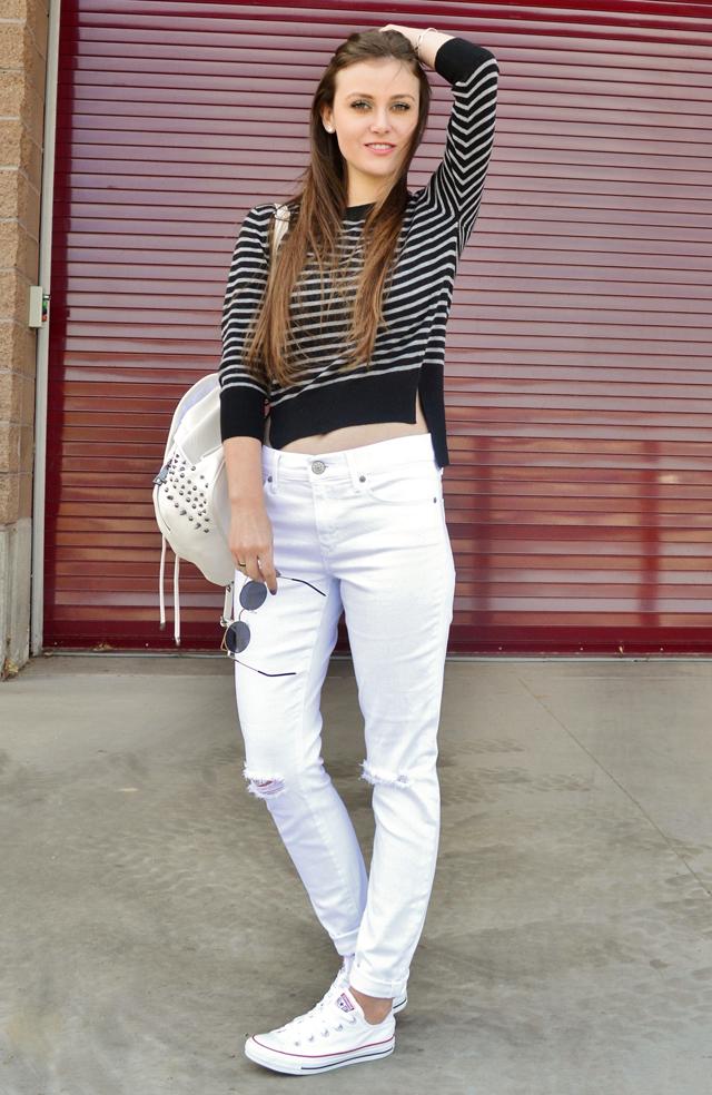 Arizona Girl My Style White Converse u0026 Crop Sweater