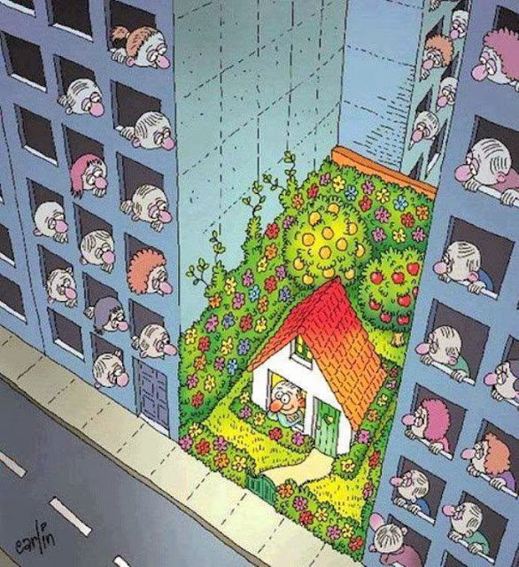 Urban Farming Cartoon