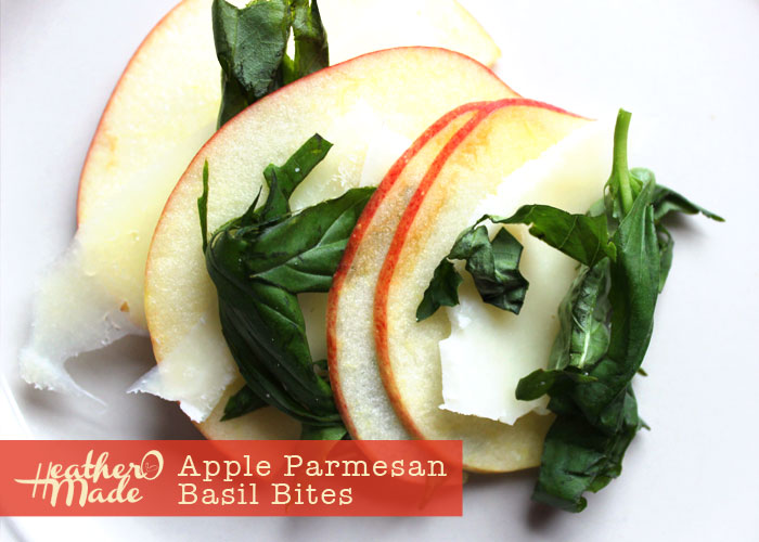 apple parmesan basil. healthy snack. recipe.