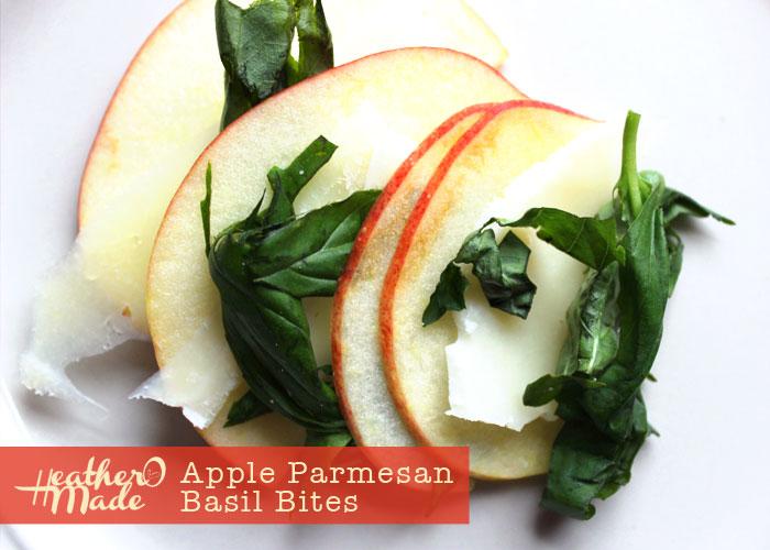 apple parmesan basil. healthy snack. recipe.