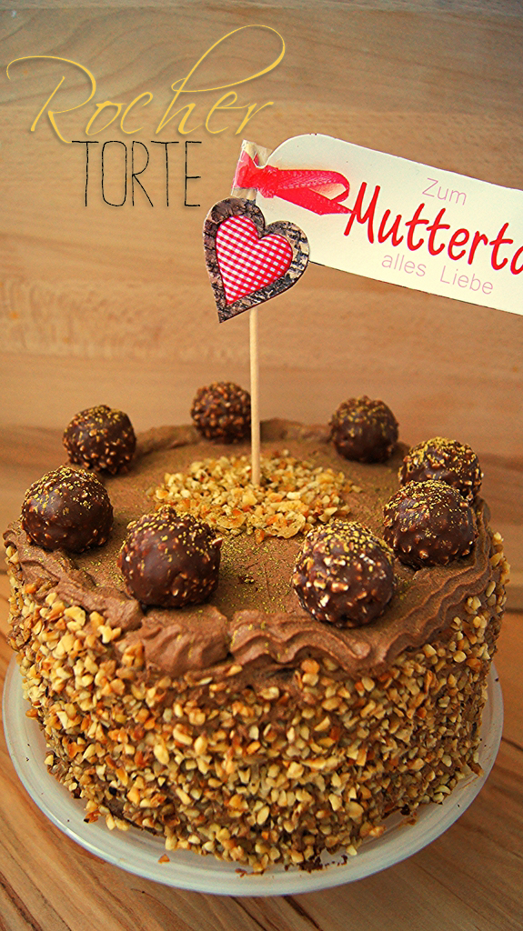 rezept delicious monday rocher torte zum muttertag bountys books and bakery. Black Bedroom Furniture Sets. Home Design Ideas