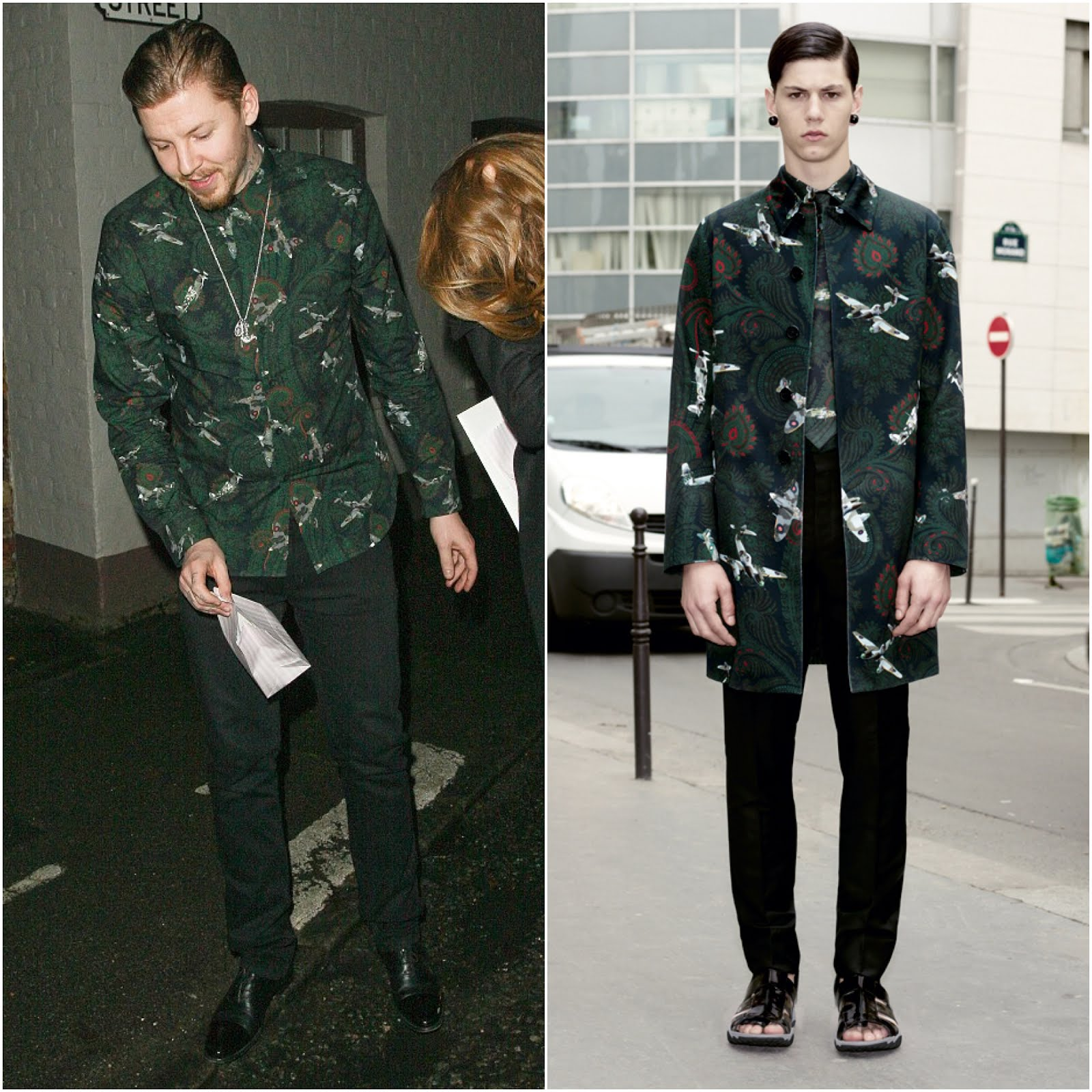 00O00 London Menswear Blog Professor Green in Givenchy - Heston Blumenthal's Fat Duck restaurant