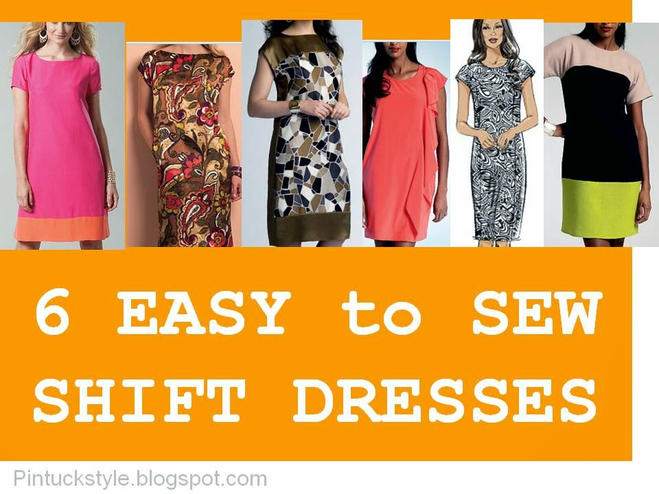 Pintucks: 6 EASY TO SEW Shift Dresses
