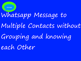 Send Same message to multiple contacts