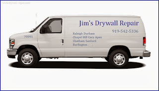 Call Jim 919-542-5336 for fast, friendly, professional drywall repair in Durham, NC by a local contractor.