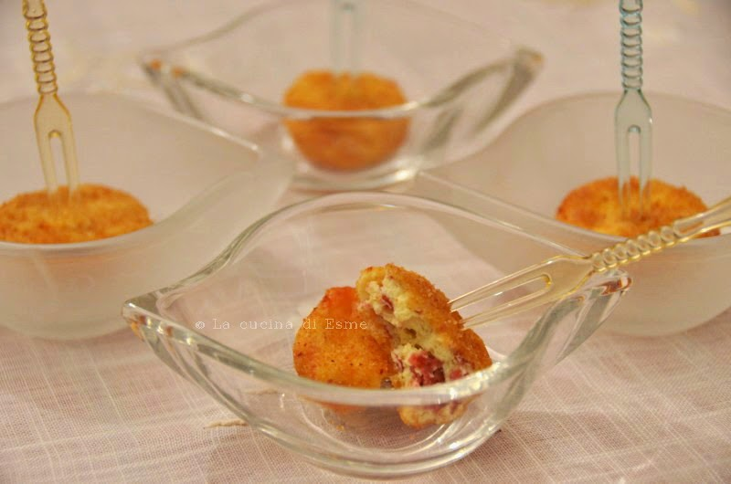 finger food ricotta e salame