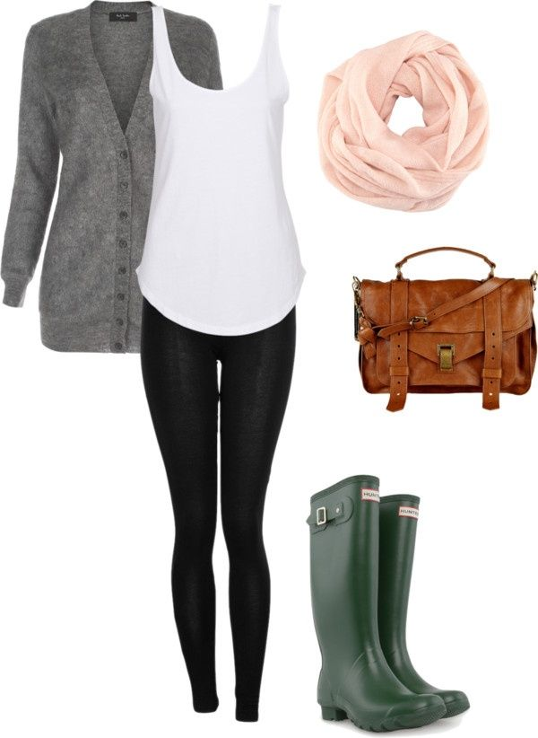 Outfit casual rainy day
