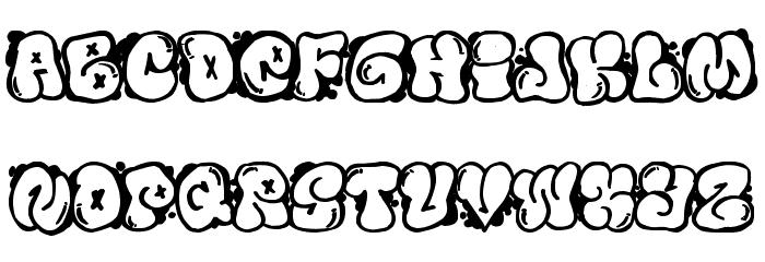 Bubbles graffiti fonts style