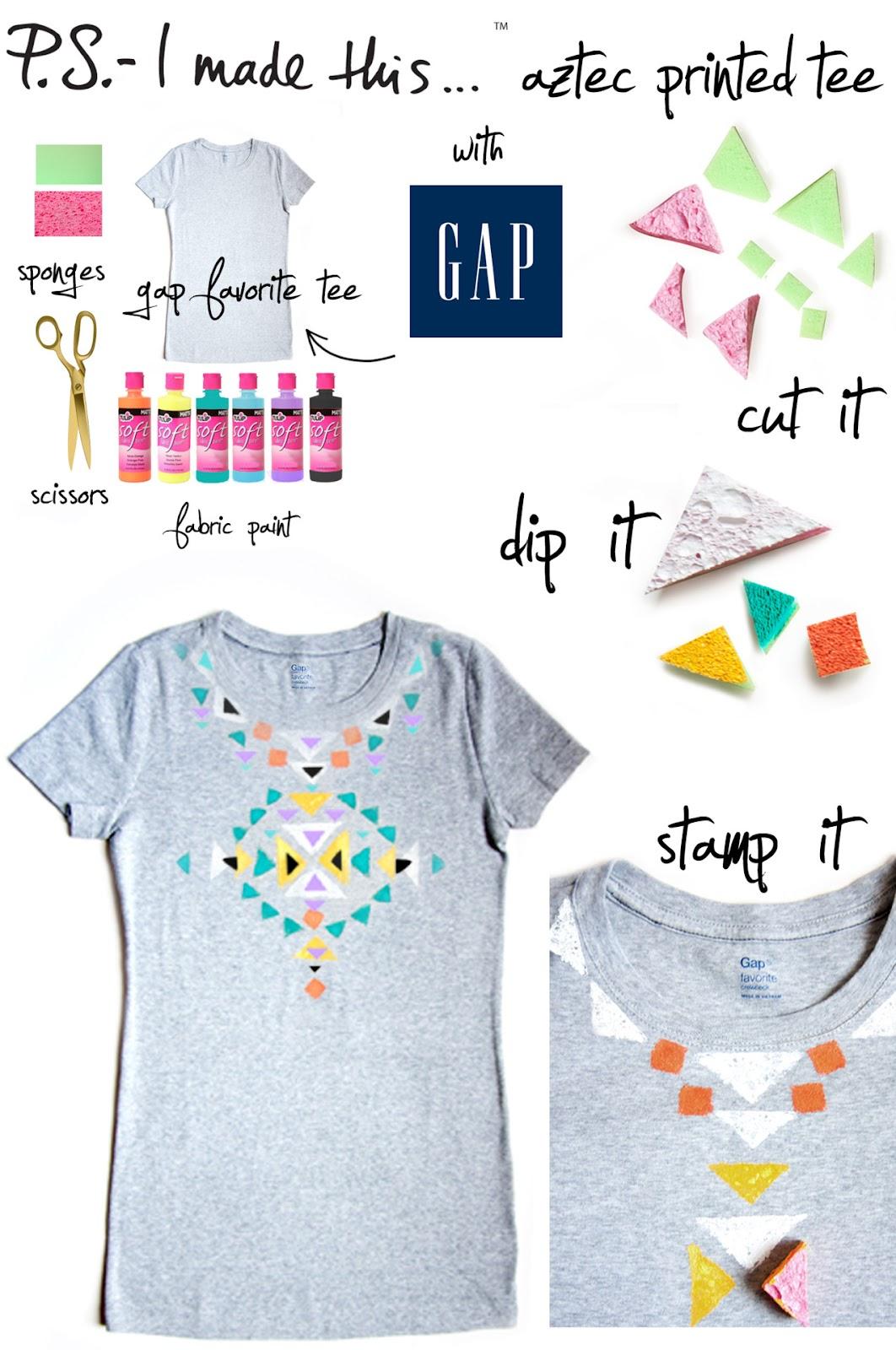Simply be you tiful diy aztec printed t shirt from p s for Diy tee shirt printing