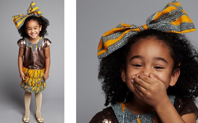 Traditional african clothing children to a traditional african