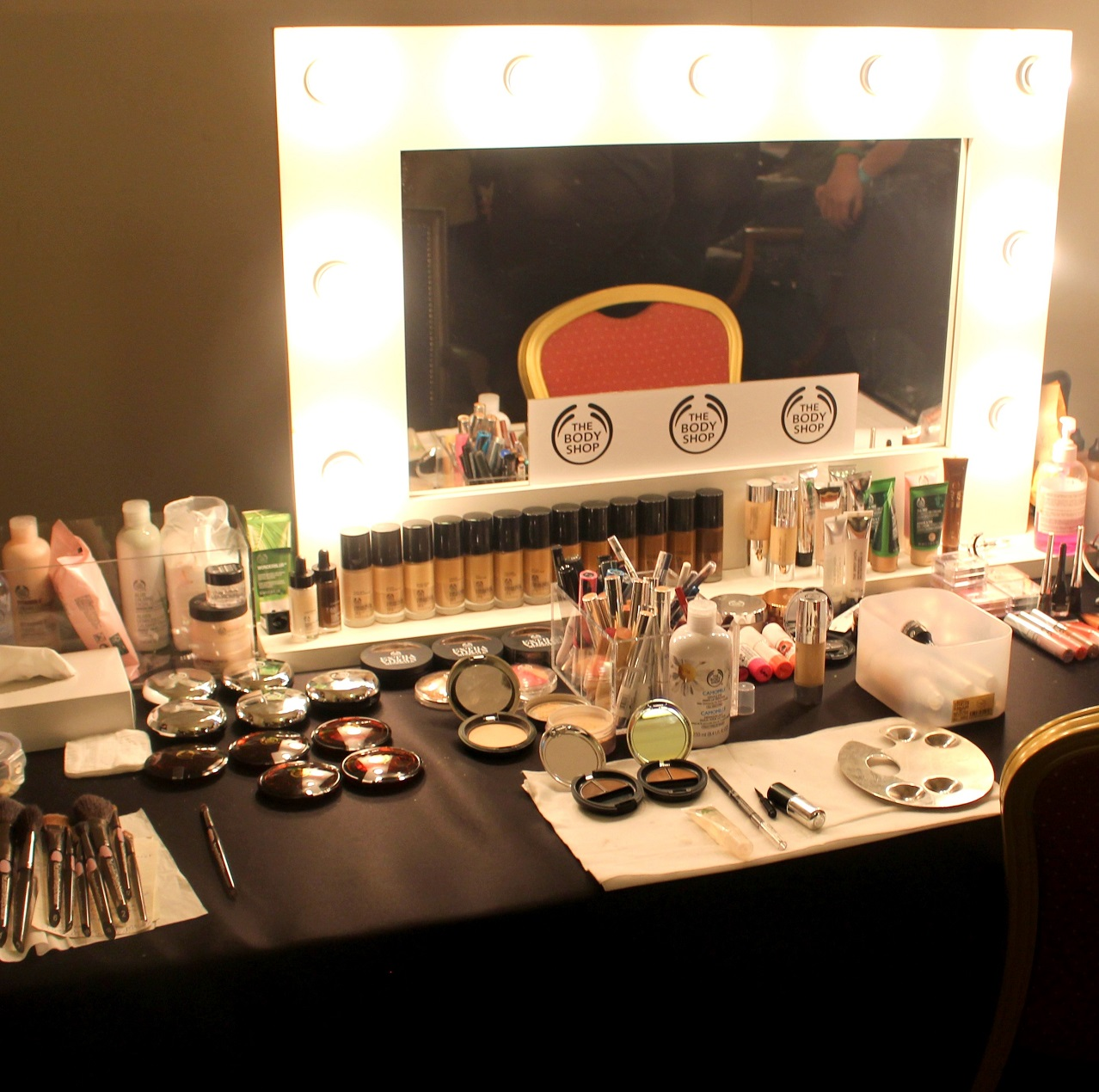 Backstage at Lulu Liu with The Body Shop