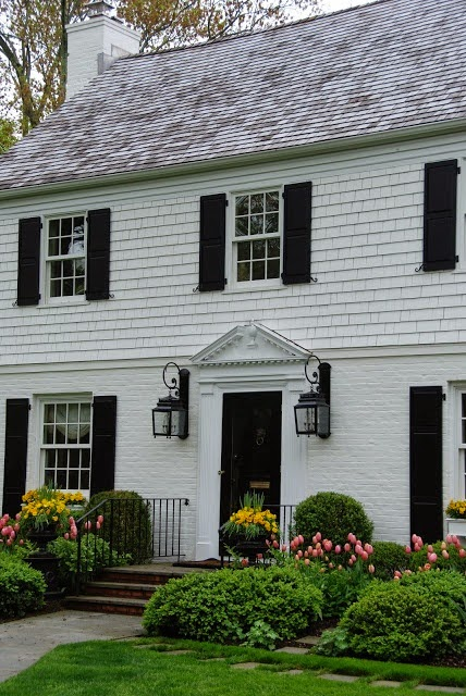 Painted Brick Colonial Homes