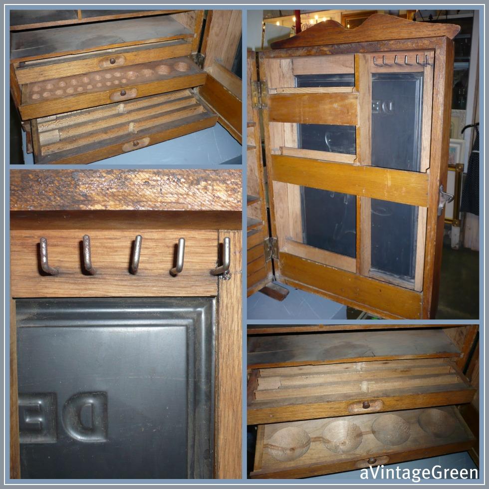 a vintage green de laval separators cabinet