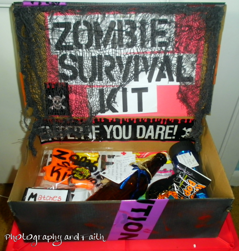 Zombie Survival Kit Labels For Candy Photography and faith: zombie ...