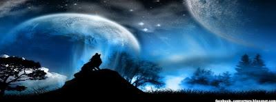 Image de couverture facebook HD Loupe et lune