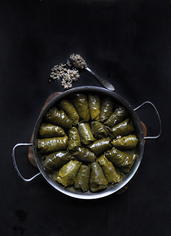 how to make vegetarian dolmades