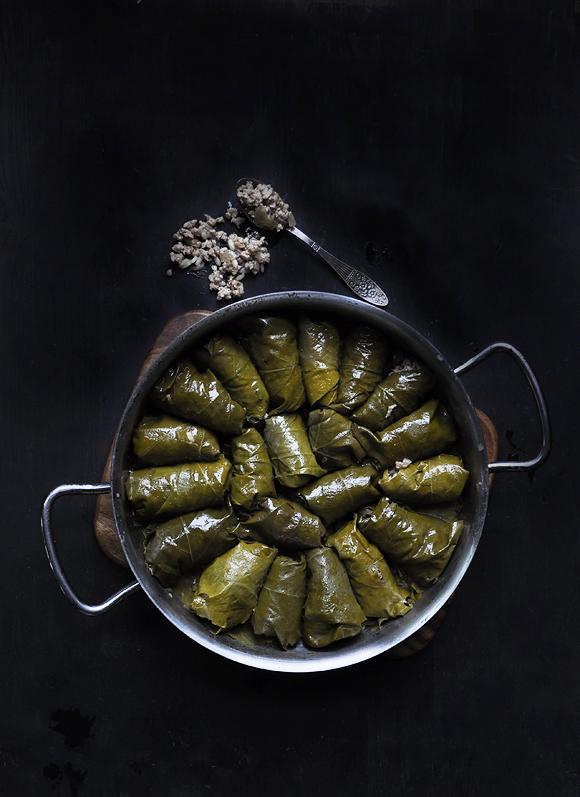 how to make vegetarian dolmades