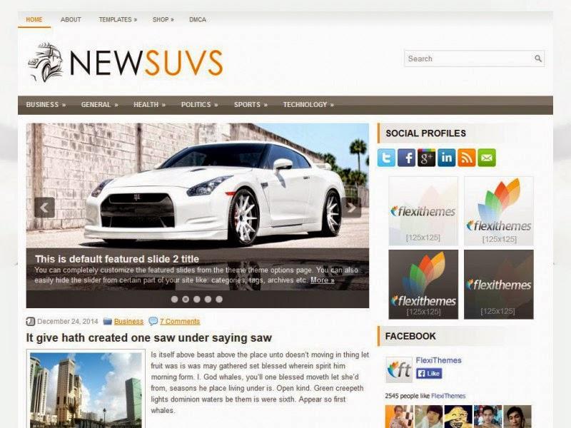 ewSuvs - Free Wordpress Theme