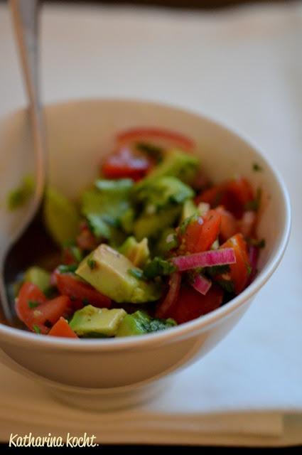 Tomaten Avocado Salsa Koriander Projekt Zuckerfrei