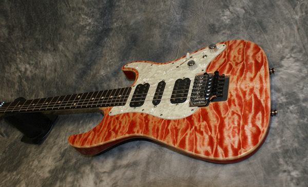 Tom Anderson Drop Top Classic Red Quilt Top Maple