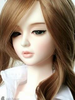 Cute Sad Doll Girl 240x320 Mobile Wallpaper