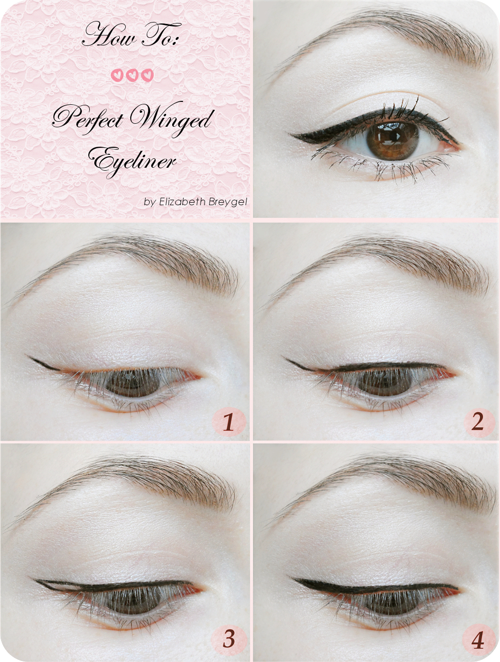 winged eyeliner styles, winged eyeliner tutorial step by step