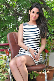 Actress Sonal Chauhan  Pictures in Short Dress at Pandaga Chesko Interview  0107