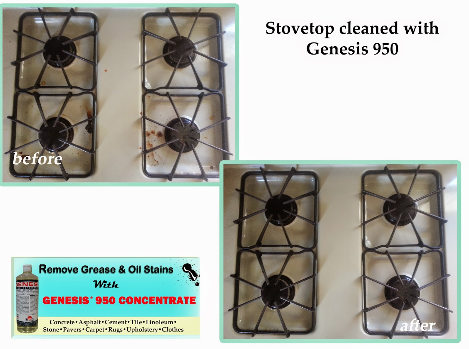 Clean Food, Oil & Grease From Stove Tops