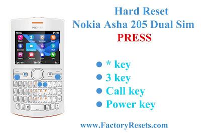 Hard Reset Nokia Asha 205 Dual Sim