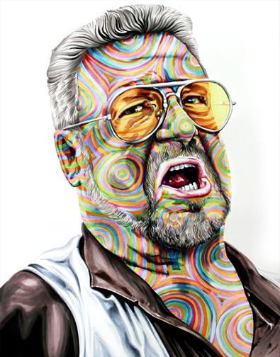 08-John-Goodman-Walter-Sobchak-The-Big-Lebowski-Joshua-Roman-Rainbow-Portraits-Drawings-Illustrations-www-designstack-co