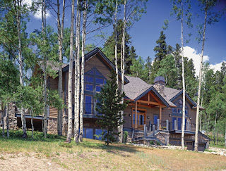 This timber frame home is located in the heart of Colorado's ski country