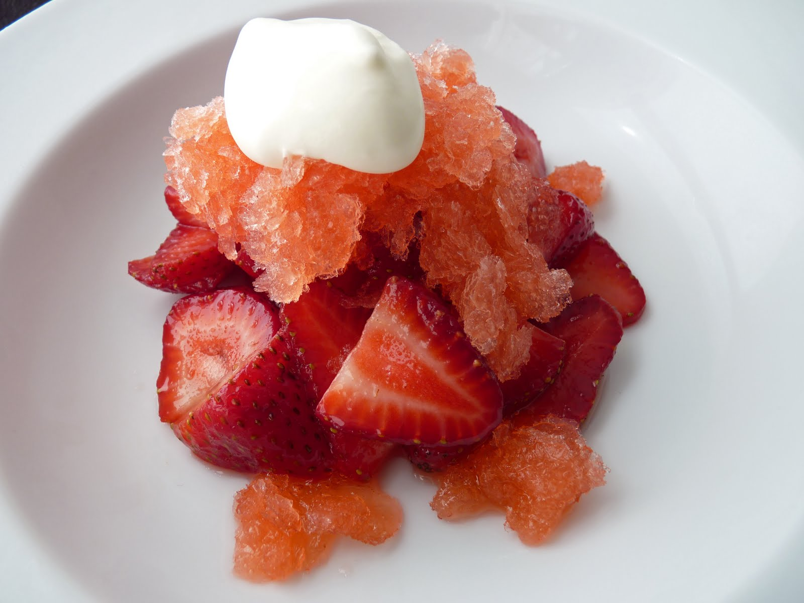 granita strawberry granita with whipped cream strawberry granita ...