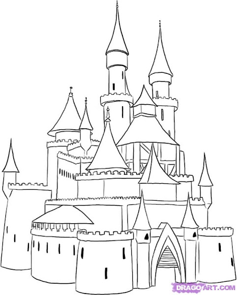 Medieval Castle Drawing