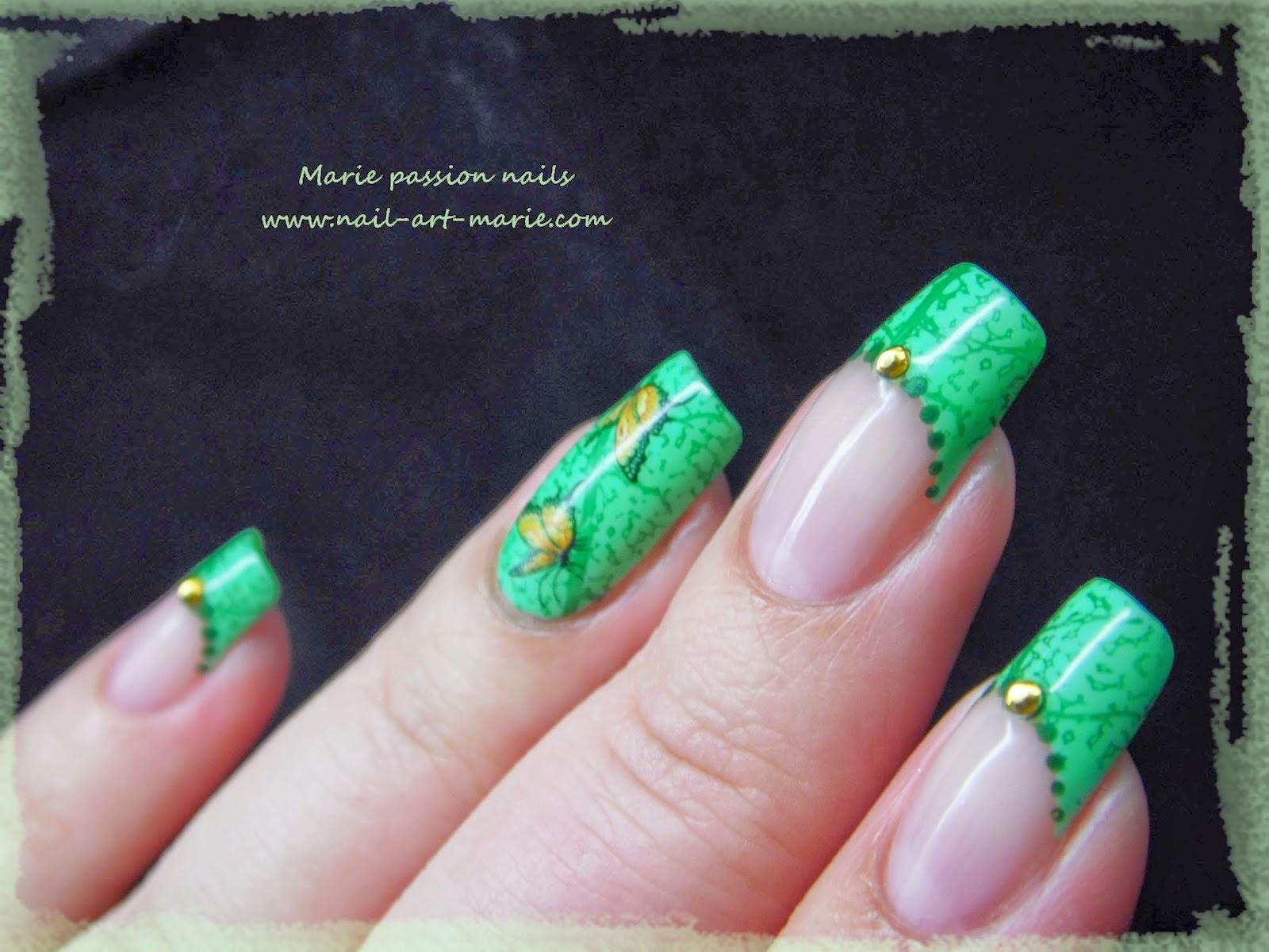 Nail art French nature2