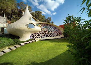 unique home house design with snail shape