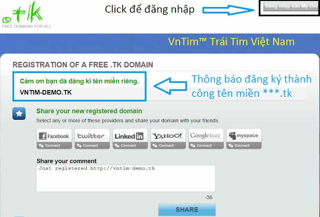 Hướng dẫn cách đăng ký, cài đặt tên miền miễn phí Dot.TK