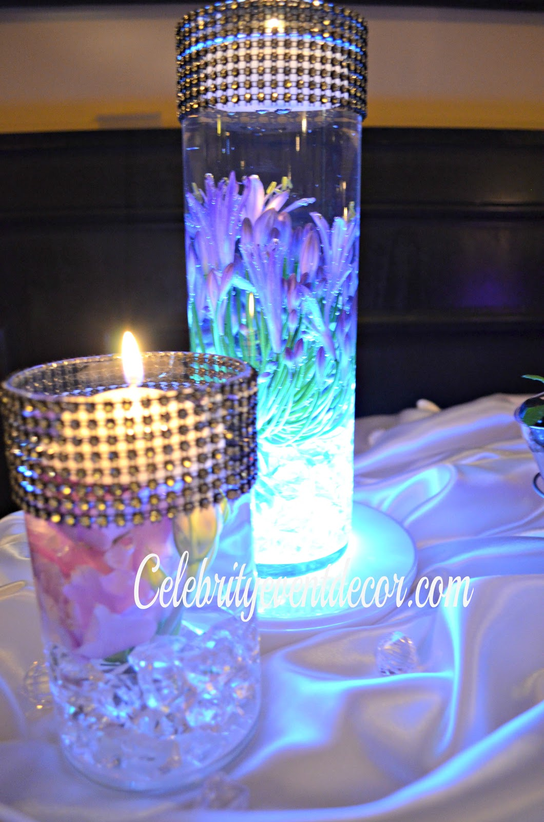Music themed wedding centerpiece or party table lighted - Cinderella Sweet 16 Centerpieces Car Interior Design