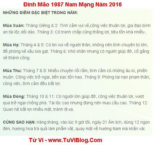 Tuoi Dinh Mao 1987 nam 2016