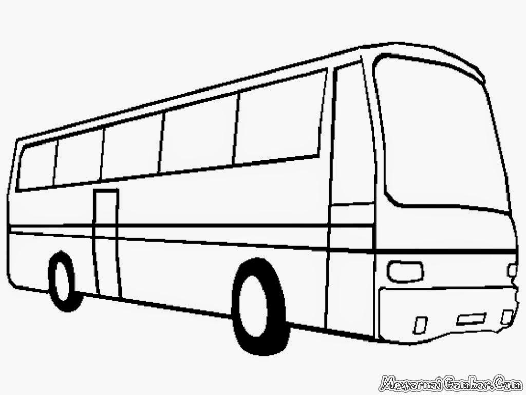Mewarnai Mobil Bus