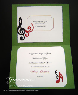 Joy to the World, inside card