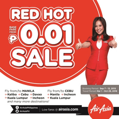 Air Asia Philippines' One Centavo Seat Sale