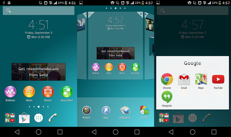 Install Xperia Z3 Home Launcher Untuk Semua Android