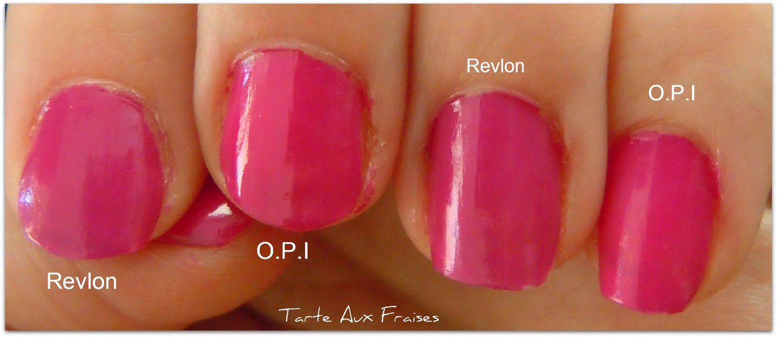 Tarte Aux Fraises: Nail Polish: Revlon - 375 Passion Fruit vs. OPI ...