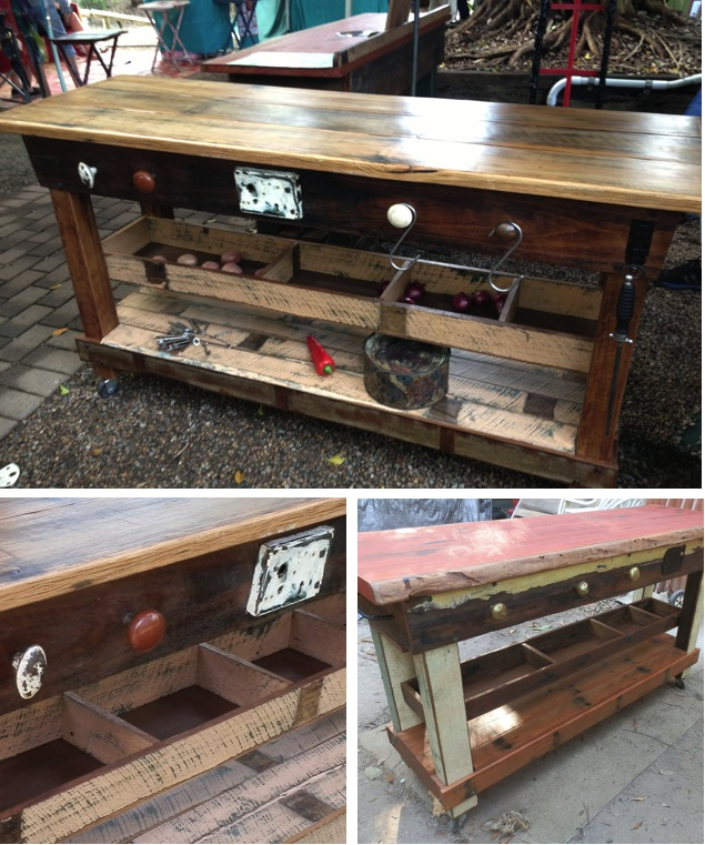 Neale makes timber kitchen island benches from locally sourced ...