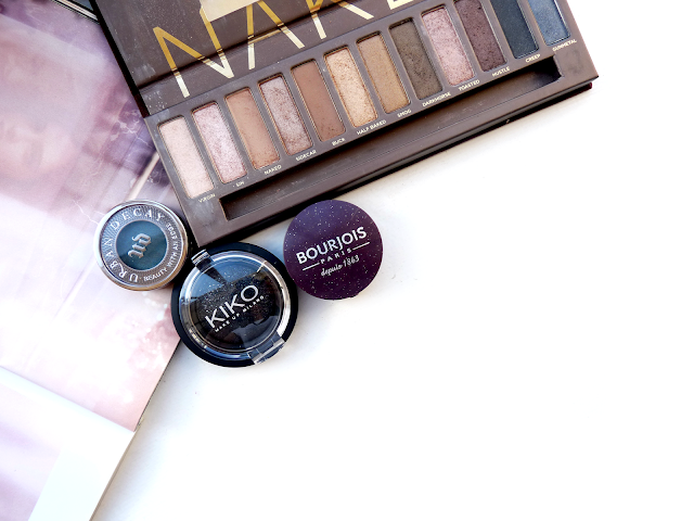 beauty, makeup, cosmetics, summer, eyeshadow, eye makeup ideas, best eyeshadows, 2015, evening makeup, glamorous, youwishyou, urban decay, Kiko, Bourjois, review, swatch, buck, loaded
