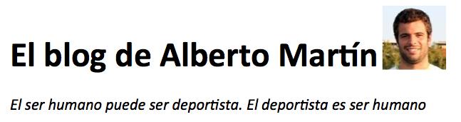 El blog de Alberto Martín