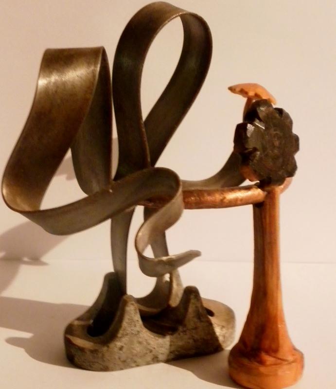 """Sculpture métal et bois """" La Valse """""""