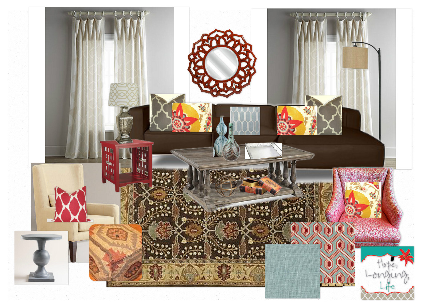 Hope Longing Life Bohemian Collected Living Room Design