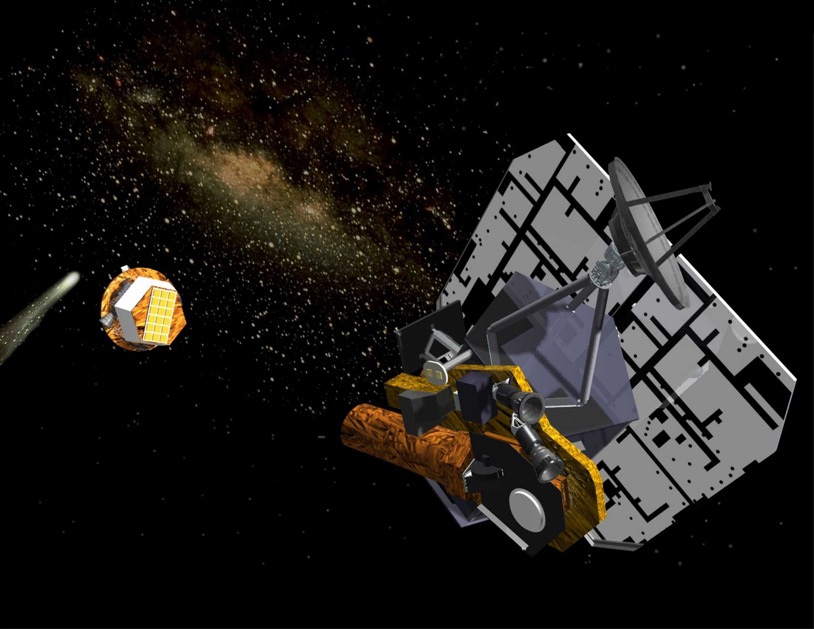 Us First Space Probe : Deep impact space probe public domain clip art photos and