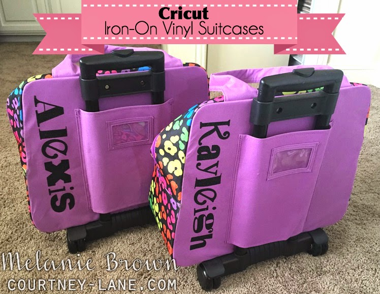 Cricut Iron-on suitcases